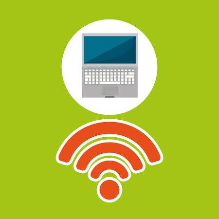connexion: Wifi technology app isolated, vector illustration