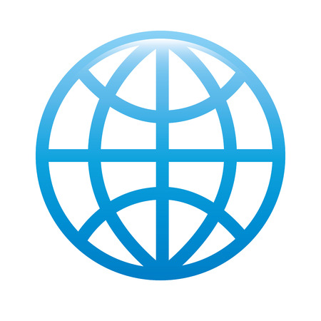 topografia: planet blue icon, global world,  isolated vector illustration