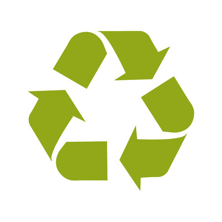 enviroment: Green ecological symbol ,  isolated vector illustration