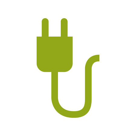 green power: Green power connector,  isolated vector illustration Illustration