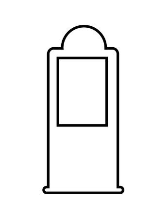petrol pump: petrol pump,  isolated lineal vector illustration
