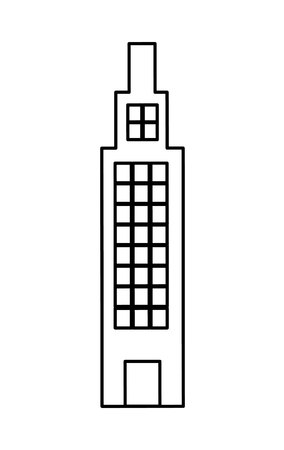 midtown: building with windows,  isolated lineal vector illustration Illustration