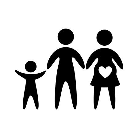 bonding: pictogram of family,  isolated vector illustration
