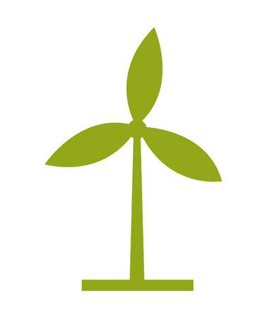 mills: Wind mills ecologico, green,  isolated vector illustration