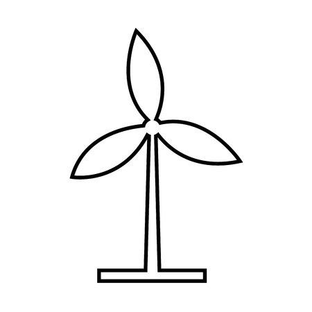 windmills: Windmills over white background, vector illustration