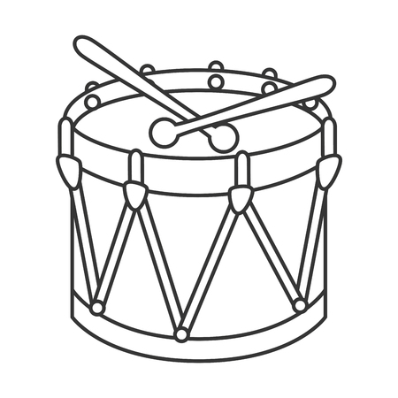 drum kit: Drum kit toy ,black and white isolated flat icon