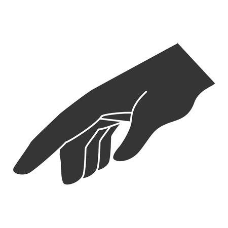 lado el lenguaje de signos, diseño icónico plana
