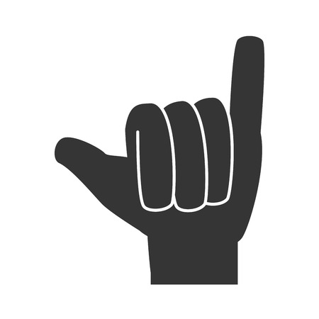 coordinated: hand sign language, isolated flat icon design