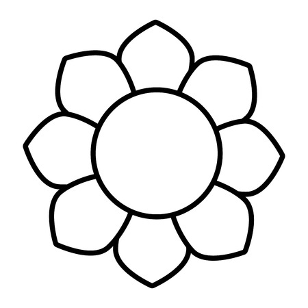 petal: Flower floral petal, isolated flat icon design.