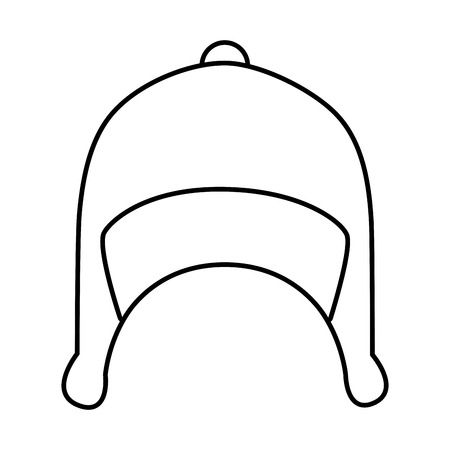 wear: snow hat wear ,isolated black and white flat icon design