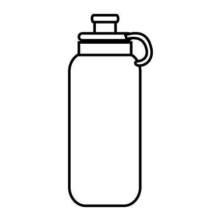 tonic: Water bottle object ,isolated black and white flat icon design