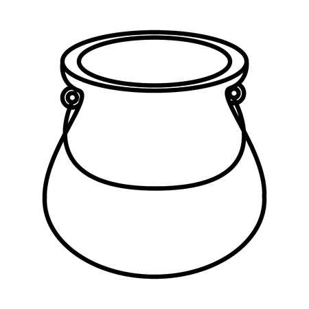 pasteurized: Jug glass ,isolated black and white flat icon design