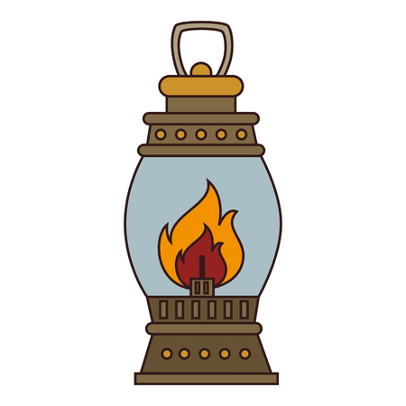 torch: lantern torch lamp, isolated colorful icon design vector illustration