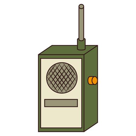transmitter: Radio transmitter device ,isolated colorful icon design Illustration
