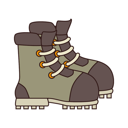 Boot camp footwear ,isolated colorful icon design Illustration