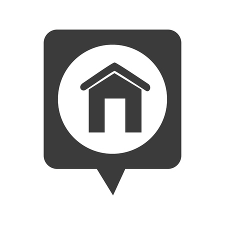 chat window: Real estate building, isolated flat icon design