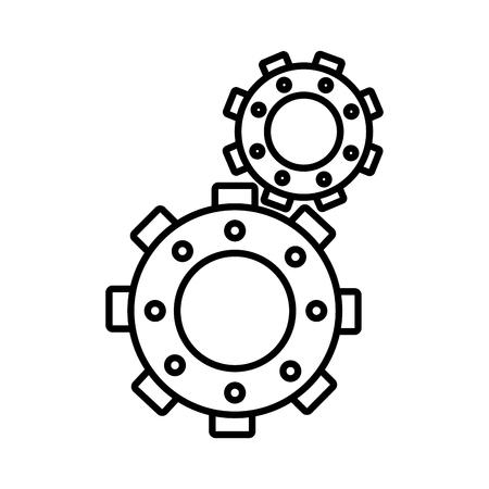 Gear cog wheel, isolated flat icon design.