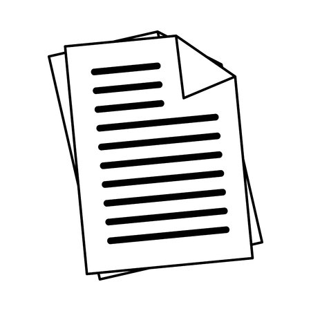 design office: Office documents sheets, isolated flat icon design. Illustration