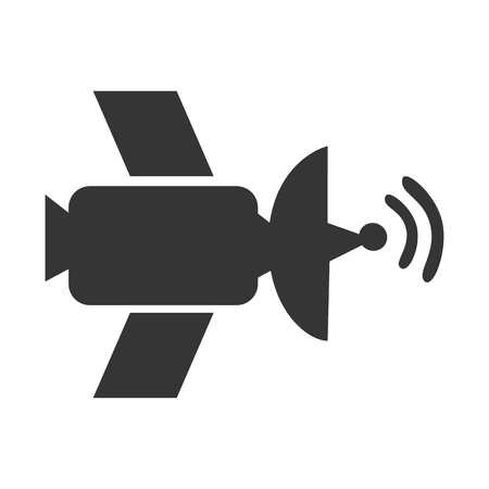 transmit: Satellite antenna waves, isolated flat icon design