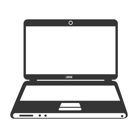 personal computer: Personal computer laptop in vintage colors, vector illustration graphic.