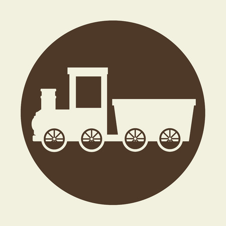 high way: railroad train isolated icon design, vector illustration  graphic