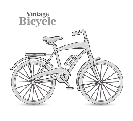 velocipede: vintage Bicycle isolated icon design, vector illustration  graphic