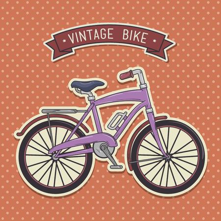 빈티지 자전거 절연 아이콘 디자인, 벡터 일러스트 그래픽
