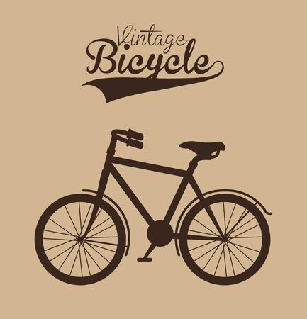 vintage vélo isolé icône design, illustration vectorielle graphique