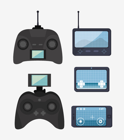 antena: remote control drone isolated icon design, vector illustration  graphic