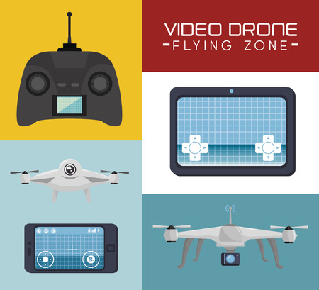 antena: video drone technology isolated icon design, vector illustration  graphic
