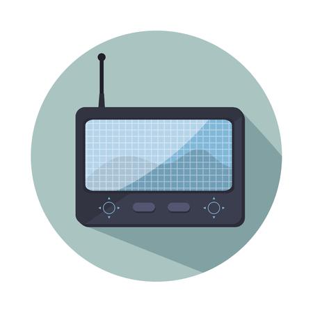 antena: remote control drone isolated icon design, vector illustration  graphic