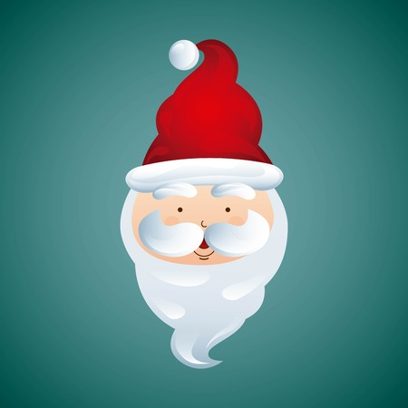 Merry Christmas concept represented by santa icon. Colorfull and flat illustration.