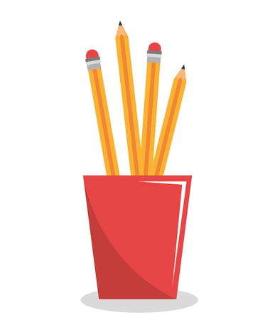 coordinated: pencil holders isolated icon design, vector illustration  graphic
