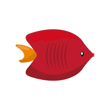 submerged: Sea life concept represented by fish icon. Colorfull and flat illustration.