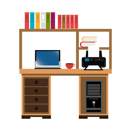 work place: office work place isolated icon design, vector illustration  graphic