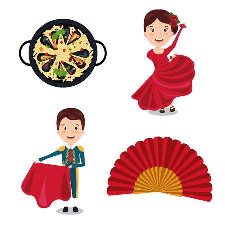 spanish culture: Spanish culture icons isolated icon design, vector illustration  graphic Illustration