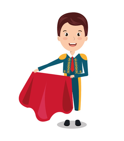 bullfighter character isolated icon design, vector illustration  graphic Иллюстрация
