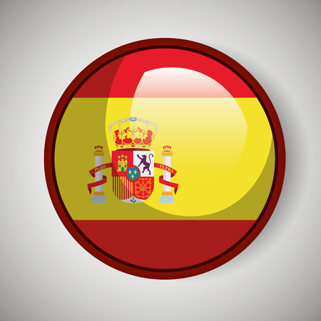 spanish flag: Spanish flag isolated icon design, vector illustration  graphic