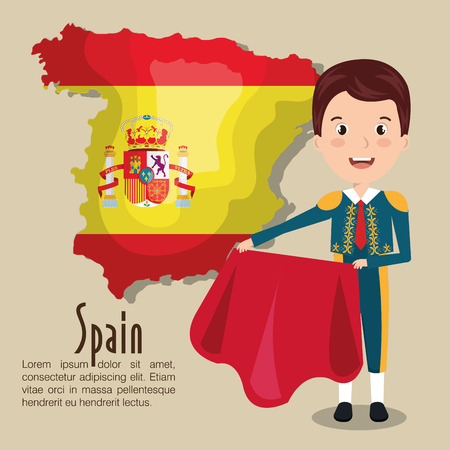 Spanish culture icons isolated icon design, vector illustration  graphic Illustration