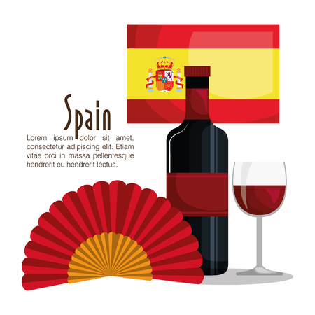 Spanish culture icons isolated icon design, vector illustration  graphic Stock Illustratie