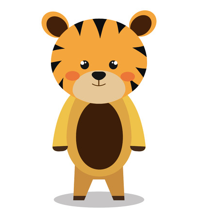discovery: cute tiger isolated icon design, vector illustration  graphic