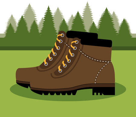 camping boots shoes  isolated icon design, vector illustration  graphic Illustration