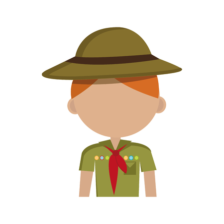 Scout Zeichen isoliert Icon Design, Vektor-Illustration Grafik