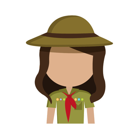 scout: scout character isolated icon design, vector illustration  graphic