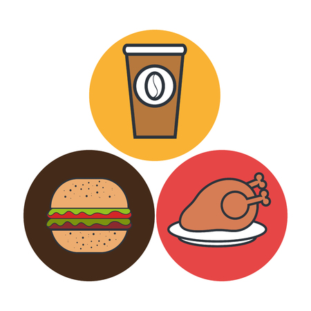 hot chicken meat isolated icon design, vector illustration  graphic