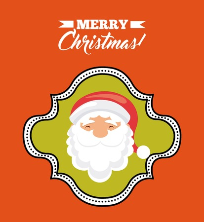 Merry Christmas concept represented by santa cartoon icon. Colorfull illustration. Illustration