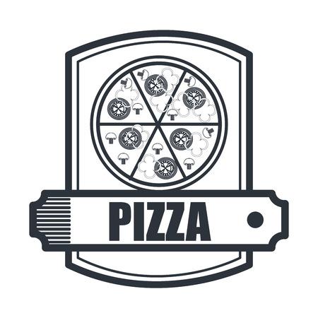 snack time: delicious pizza isolated icon design, vector illustration  graphic