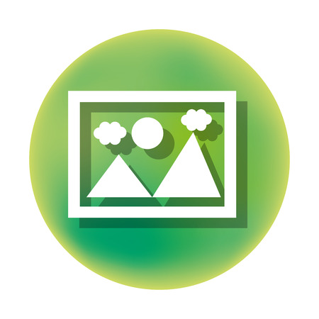 picture watercolor isolated icon design, vector illustration  graphic Illustration