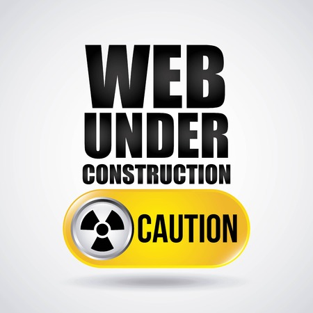 rebuilding: Under construction and Work in Progress concept represented by biohazard icon. Colorfull and flat illustration. Illustration