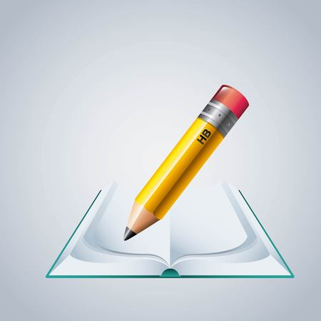 secretarial: Instrument concept represented by pencil icon. Colorfull and flat illustration. Illustration